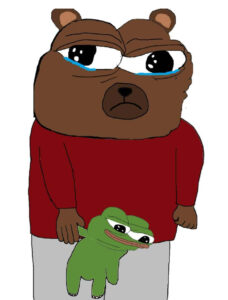 bear crying