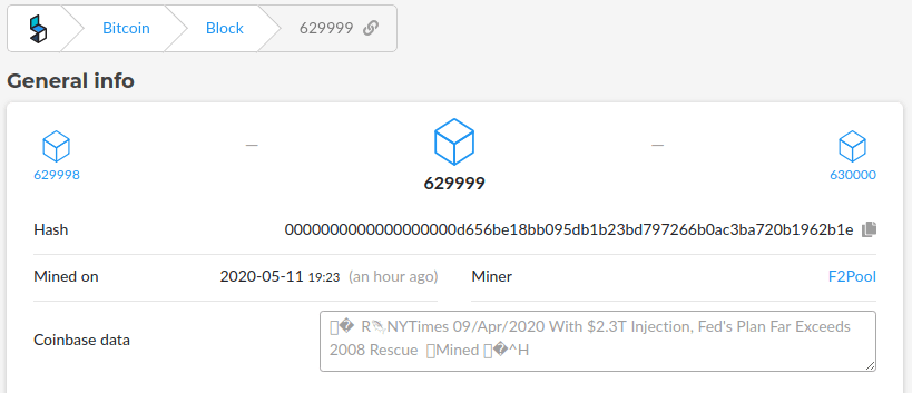 message in bitcoin block 629999