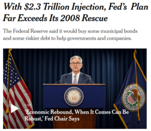 """$2.3 Trillion Injection, Fed's Plan Far Exceeds Its 2008 Rescue"" NY Times"
