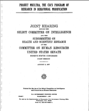 1977 Senate Report on MKUltra